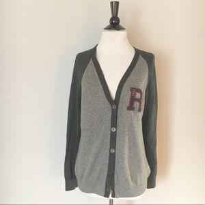 H&M Varsity Letter Cardigan Size M